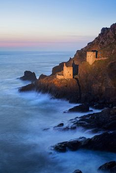 Crown Mines, Botallack, Cornwall   This shot was taken long after dark, with the mines lit by torchlight. by Simon Byrne