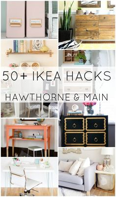 Who loves IKEA hacks!! Here is an amazing round up of ideas! I want to do all of these!! #IKEA #DIY #CRAFT