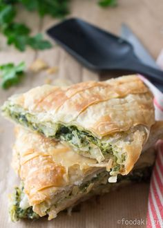 Spinach Pie with Feta and Leeks