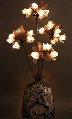 Great way to warm up a room. I have some different ones and I love to plug them in at night and on dreary days. Lighted flowers are way fun.