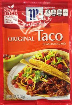 mccormick seasoning packet
