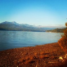Olympic Mountains from the Hood Canal.