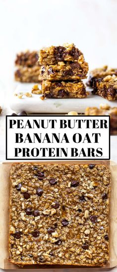 Banana Protein Bars, Healthy Protein Bars, Healthy Granola Bars, Protein Bar Recipes, Homemade Protein Bars, Healthy Homemade Snacks, Keto Granola, Banana Bars, Protein Cake
