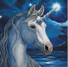 Lisa Parker Starlight Unicorn Greetings Card