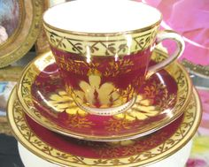 ANTIQUE 1860'S VICTORIAN'S TEA CUP AND SAUCER