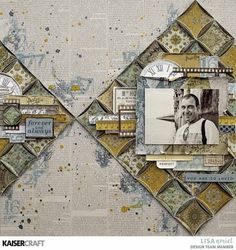 Fussy Cutting for Dimension – KAISERCRAFT WORKSHOP. This amazing layout inspiration is by Lisa Amiet Design Team member for Kaiseraft Workshop. To learn how she created her layout and all the techniques she has used go to kaisercraftblog.com ~ Wendy Schultz ~ Kaisercraft Projects 2.