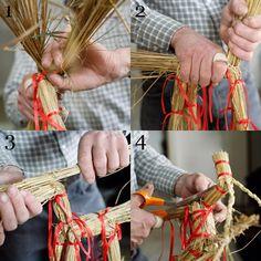 Step by step: Make traditional Finnish Christmas decoration: Straw Yule Goat. Pattern – Kotiliesi - magazine.