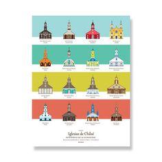 Afiche Iglesias de Chiloé