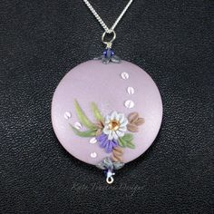 Before The Rain Necklace Polymer Clay by KateTractonDesigns