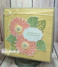 handmade greeting card from It's a Stamp Thing . lovely montage of stamped and die cut flowers . Stampin' Up! Stamping Up Cards, Flower Cards, Greeting Cards Handmade, Homemade Cards, Your Cards, I Card, Making Ideas, Cardmaking, Stampin Up