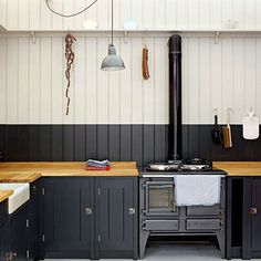 Come and see coloured kitchen ideas on HOUSE - design, food and travel by House & Garden.