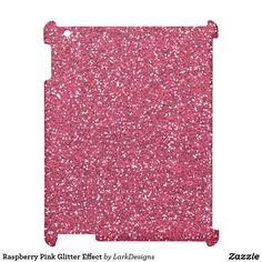 Raspberry Pink Glitter Effect iPad Covers