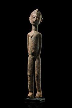 "Bateba Phuwe Burkina Faso, Lobi The Lobi differentiate between four types of ""bateba"" protective figures: ""bateba phuwe"" (the so-called ""ordinary bateba""), ""bateba bambar"" (""paralyzed bateba""), ""bateba ti puo"" (""dangerous persons"") and ""bateba ti bala"" (""the extraordinary persons""). Present figure belongs to the type of ""ordinary bateba"", because it shows no special gesture or any physiological symptom."