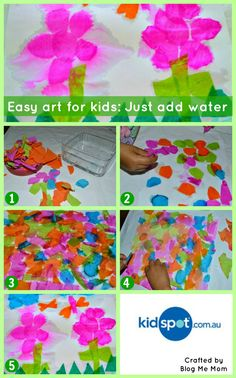 Water Play - Paper Craft - Craft For Kids Toddler Crafts, Preschool Crafts, Fun Crafts, Crafts For Kids, Arts And Crafts, Kids Diy, Water Play Activities, Toddler Activities, Summer Activities