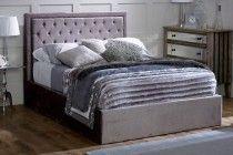 Limelight Rhea Silver Fabric Ottoman Bed