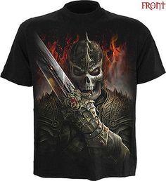 SPIRAL DIRECT DRAGON WARRIOR T-Shirt,Reaper/Skull/Dragon//Biker/Horror/Goth/Top