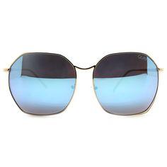 Quay Australia Bae Sunglasses in Gold/Blue