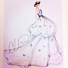 Sketch by Christian Siriano: a bridal idea