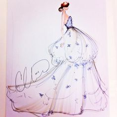 Sketch by Christian Siriano: a bridal idea