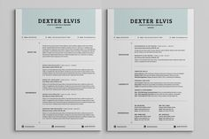 Best Sellers 2 Pages Powerful Resume by SNIPESCIENTIST on Creative Market