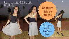 Costure Saia de pregas com Alana Santos Blogger