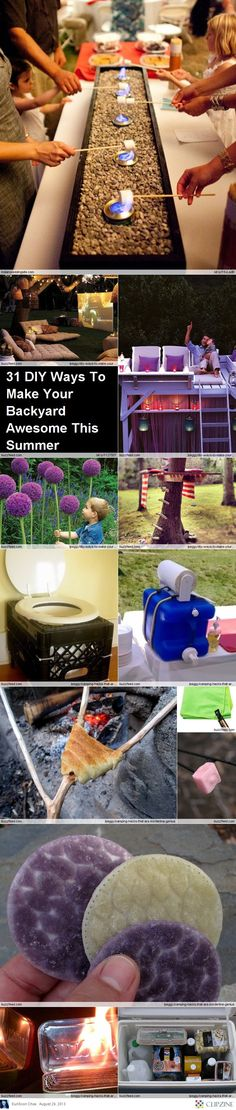 Great Summer Camp Ideas. The toilet thing is excellent.