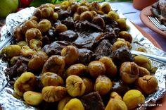 Chestnut and wild boar, medieval lunch, Sortelha, Portugal