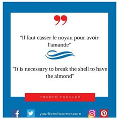 """""""It is necessary to break the shell to have the almond"""" Just saying! Bonne semaine #Regram via @yourfrenchcorner"""