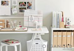 An Organised Life: Workstations //  The key to successful organisation is having a designated home for everything. If all incoming paperwork has a place to live, nothing is left cluttering your desk and your mind.  Click and read about our five steps to setting up the perfect workstation for you on our blog. x