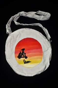 Acrylic on bag by Rona marliana