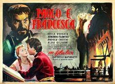 """Raffaello Matarazzo's """"Paolo e Francesca"""" (1949), starring Odile Versois (as Francesca da Rimini), Armando Francioli (as Paolo Malatesta) and Andrea Checchi (as 'Gianciotto')."""
