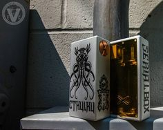 From front to back, the Cthulhu Series Mechanical Box Mod by Deathwish Modz is one of the best looking mods of 2017!