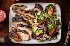An easy Thai grilled chicken breast recipe. You will need cilantro, garlic, brown sugar, white pepper, Asian fish sauce, and soy sauce for marinating