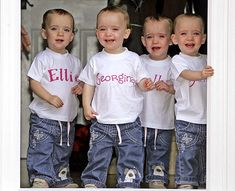 Holly, Jessica, Ellie, and Georgina Carles are Identical Quadruplets from England