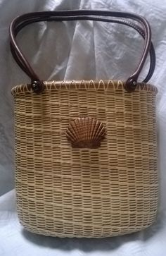 Nantucket Tote Basket with Rosewood Base by TheKrakensWife