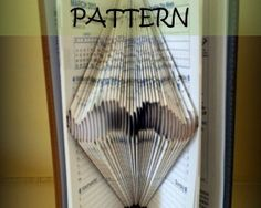Book folding Pattern: MOUSTACHE design (including instructions) – DIY gift – Papercraft Tutorial