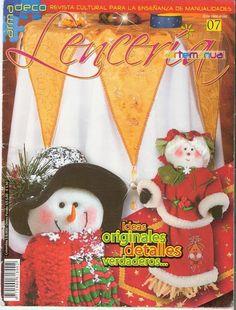 Revistas de manualidades gratis: Como hacer muñecos monos navideños