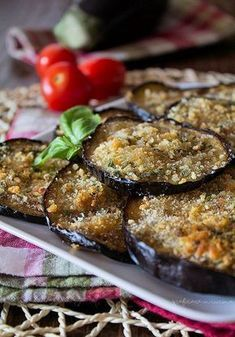 Baked Zucchini Fritters, Classic Italian Dishes, Italian Pasta Recipes, Eggplant Recipes, Tapas, Food For A Crowd, Antipasto, Food Dishes, Finger Foods