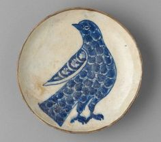 One of several Islamic bird motif ceramics throughout the 10th-17th centuries,The Harvard Art Museums Norma Jean Calderwood Collection of Islamic Art.