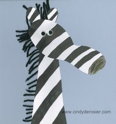 Footprint Zebra | Fun Family CraftsFun Family Crafts