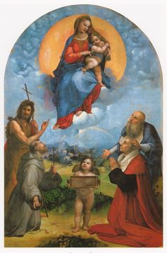 Raffael, Madonna di Foligno Pinacoteca Vaticana, Rom (Vatican Pinacoteca, Rome)