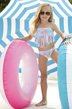 Little Peixoto Kids Fringe Bikini   Magnolia Bikini in Snake Candy