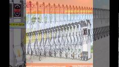 Cổng xếp nhôm hợp kim co giãn tự động cao 1,6m