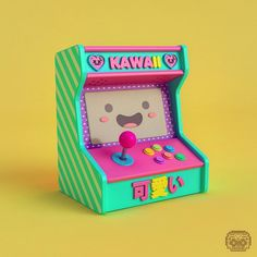 Arcade kawaii Character Design Sketches, 3d Character, Character Illustration, Fantasy Character, Blender 3d, Isometric Art, Modelos 3d, 3d Artwork, Taste Of Home