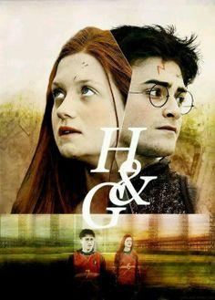 harry potter on We Heart It. Fantasia Harry Potter, Gina Harry Potter, Harry Y Ginny, Harry Potter Couples, Harry Potter Ginny Weasley, Gina Weasley, Images Harry Potter, Harry Potter Ships, Harry Potter Fan Art