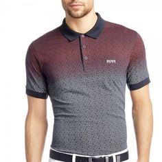 Choose from the latest Boss collection at Stuarts London. Navy Polo Shirt, Polo T Shirts, Golf Shirts, Polo Shirt Style, Camisa Polo, Hugo Boss Shirts, Big Men Fashion, Hugo Boss Man, Mens Tees