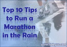 Top 10 Tips to Run a Marathon in the Rain - just in case! Running In The Rain, Running Race, Running Workouts, Running Tips, Marathon Gear, First Marathon, Marathon Running, Race Training, Training Plan