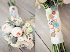 button bouquet wrap