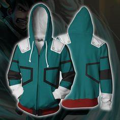 I TURE ME Boku No Hero Academia Mein Held Academia Izuku Midoriya Hoodies Jacke Gr/ün Sweatshirt Cosplay