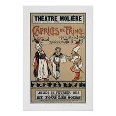 1912 Theatre Moliere Brussels operetta ad posters